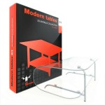 مدل میز مدرن گل میز عسلی چوبی شیشه ای گرد مستطیلی