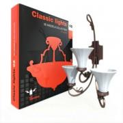 مدل چراغ کلاسیک لامپ لوستر پنکه تزئینی آباژور