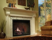 مدل شومینه کلاسیک مدرن سنگی آتش هیزم بخاری