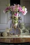 مدل تزئینات منزل دکوری گل آباژور گلدان شمعدان