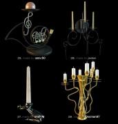 مدل شمع جاشمعی شمعدان کلاسیک استیل مدرن