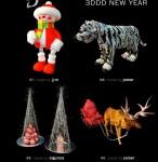 مدل وسایل سال نو جشن درخت کاج مجسمه گوزن بابانوئل