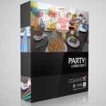 مدل وسایل جشن کلاه شیپور برف شادی بادکنک هدیه کیک تولد بستنی قیفی چیپس زیتون  ظرف یک بار مصرف