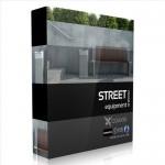 مدل وسایل خیابان صندلی سطل چراغ سنگ فرش نیمکت
