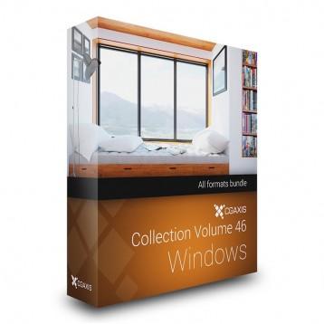 دانلود مدل پنجره مدل سه بعدی تری دی مکس وی ری