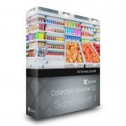 دانلود مدل سوپر مارکت قفسه نان یخچال تی شرت میوه سیب هلو گلابی پرتغال خیار گوجه سیب زمینی سبد خرید مدل سه بعدی تری دی مکس تری مکس وی ری