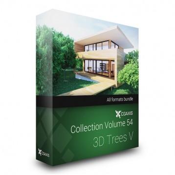 دانلود مدل درخت جنگل مدل سه بعدی آماده رندر تری دی مکس وی ری