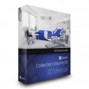 دانلود مدل تجهیزات پزشکی دستگاه MRI ضربان قلب شوک تنفس تخت مریض تخت جراحی وسایل اتاق عمل ویلچر پرده واکر میز سرم گوشی پزشکی مدل سه بعدی تری دی مکس وی ری