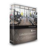 دانلود مدل وسایل باشگاه تردمیل دوچرخه دمبل هالتر سیمکش مدل سه بعدی آماده رندر تری دی مکس وی ری