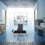 رندر حمام مدرن کلاسیک استیل کف پارکت دستشویی اورموشن آرک آرچ اینتریور 39