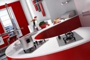 مدل سه بعدی آشپزخانه اجاق گاز هود یخچال فریزر سینک صندلی بشقاب مایکروویو   تری دی مکس اسکچاپ آبجکت