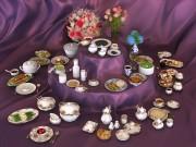 مدل سرویس پرسلان قوری فنجان بشقاب لیوان صبحانه ناهار عصرانه دسر دسته گل