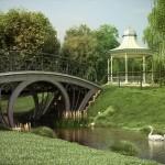 دانلود مدل سه بعدی تزئین پارک باغ چمن نرده نیمکت دروازه پیاده رو اورموشن آرک آرچ مدل 116