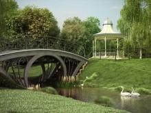 دانلود آبجکت سه بعدی مدل تزئین پارک باغ چمن نرده نیمکت دروازه پیاده رو آلاچیق پل تری دی مکس وی ری - ویژه فقط در معماری مدل