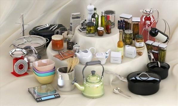 مدل وسایل آشپزخانه کتری چاقو کارد ترشی ماهی تابه روغن قوری