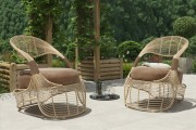 مدل صندلی راحتی حصیری نیمکت باغ پارک