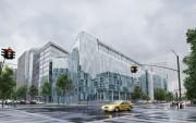 مدل سه بعدی شهر ساختمان شهری آجری شیشه ای ساختمان چند طبقه