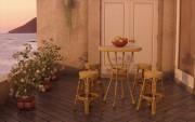 مدل سه بعدی وسایل رستوران میز صندلی فرفروژه   تری دی مکس اسکچاپ آبجکت