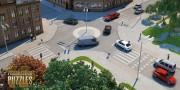 مدل سه بعدی تزئینی چمن باغ پارک سنگ فرش پیاده رو پله شمشاد دیوار سنگی خیابان میدان   تری دی مکس اسکچاپ آبجکت