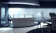 مدل سه بعدی مبلمان اداری میز صندلی کابینت کامپیوتر مانیتور   تری دی مکس اسکچاپ آبجکت
