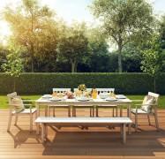 دانلود مدل سه بعدی میز غذاخوری چوبی آیکیا ایکیا صندلی چوبی نیمکت تراس بالکن